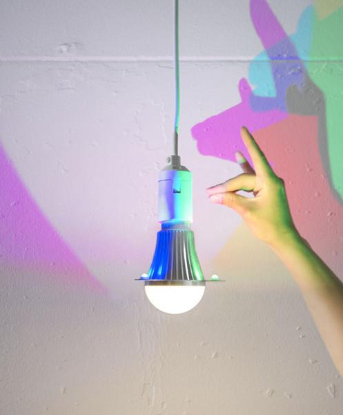 CMYK bulb with hand